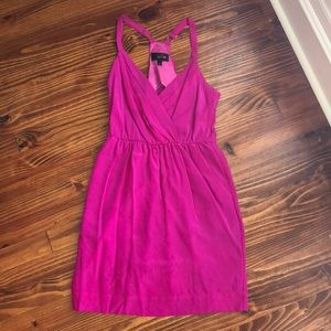 Fuchsia dress with removable belt